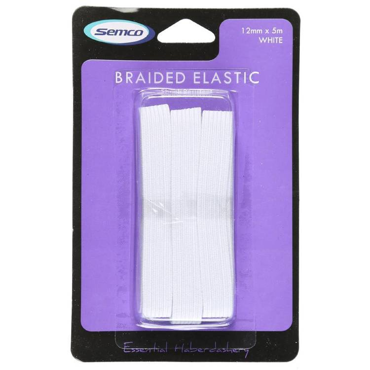 Semco 12mm x 5m Braided Elastic - Everyday Bargain