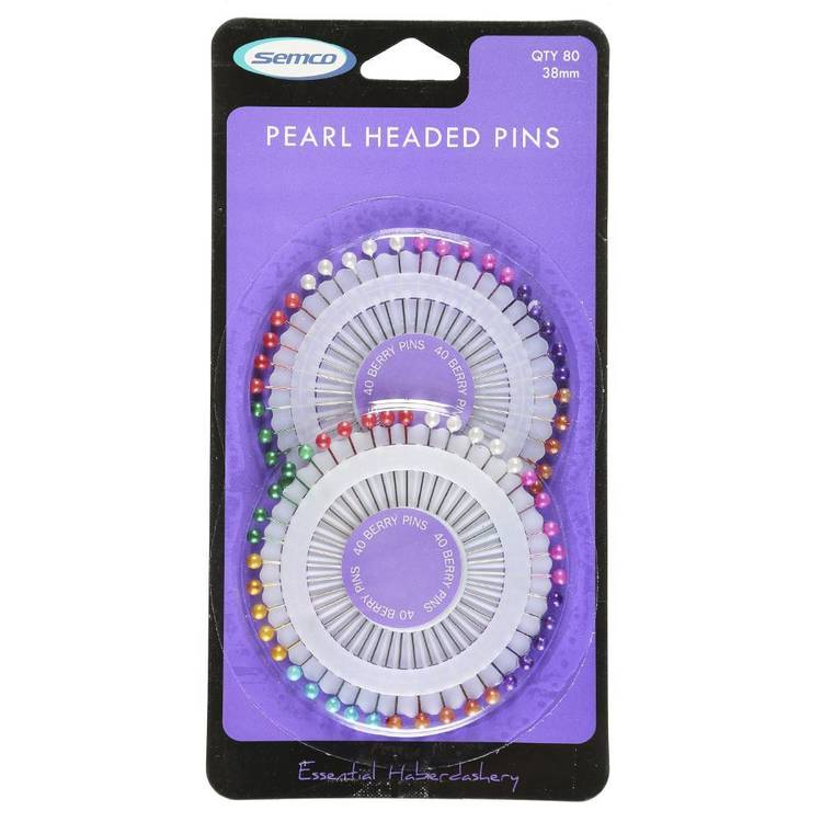 Semco 38mm Pearl Head Pins Multicoloured - Everyday Bargain