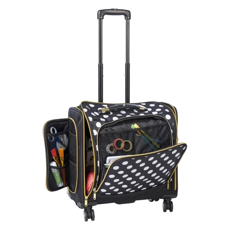Francheville Craft Trolley Bag Black & White
