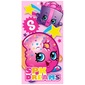 Shopkins Lets Party Bath Towel Pink