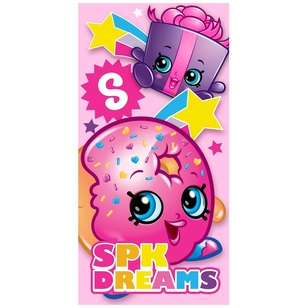 Shopkins Lets Party Bath Towel