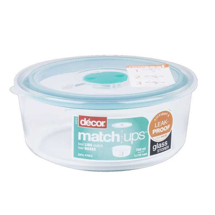 Decor Matchups Glass Round Container