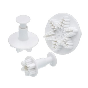 Kitchencraft Sweetly Does It Snowflake Fondant Plunger Cutter Set