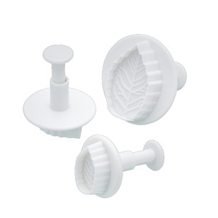 Kitchencraft Sweetly Does It Leaf Fondant Plunger Cutter Set