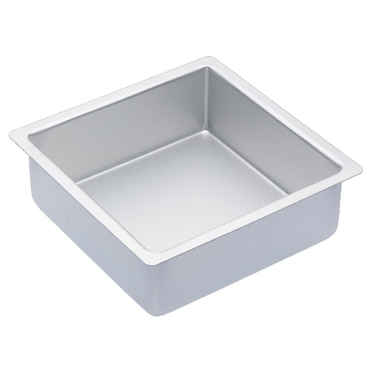 Kitchencraft Sweetly Does It Mastercraft Anodised Square Deep Cake Pan Silver