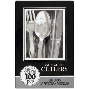 Amscan Assorted Silver Cutlery Box