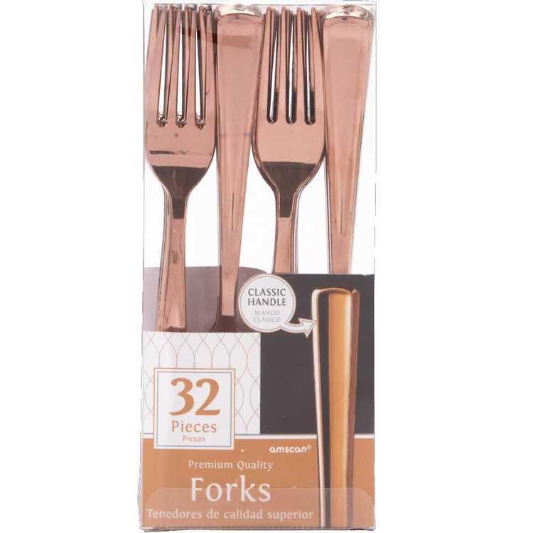 Amscan Gold Premium Fork