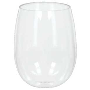 Amscan Stemless Wine Glass
