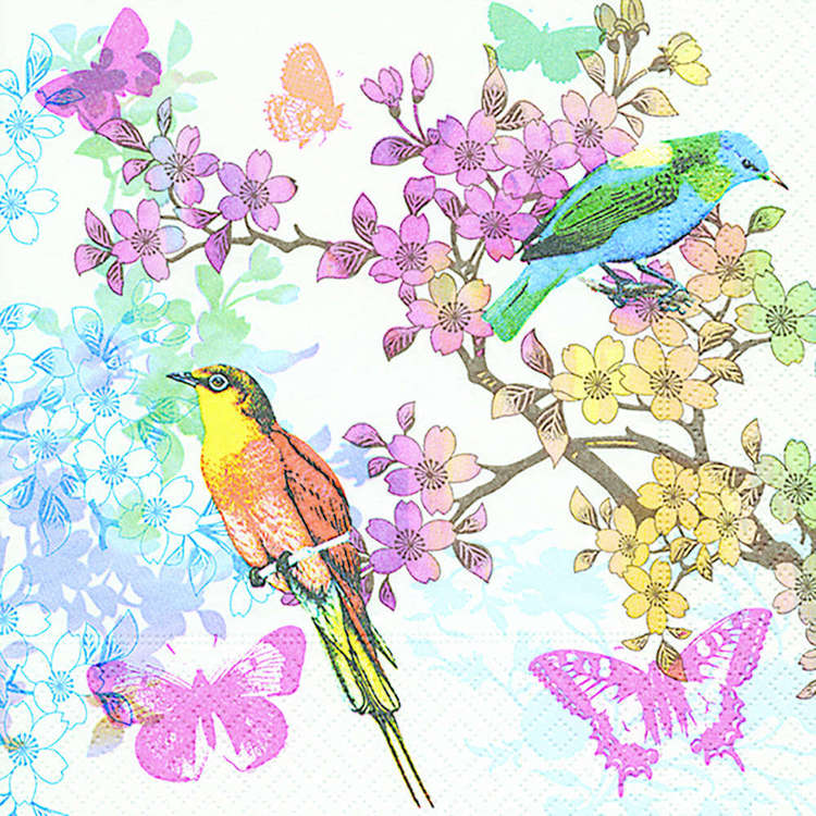 Waxglo Birds of Paradise Luncheon Napkin