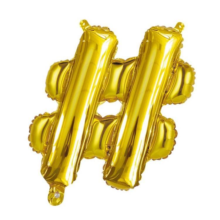 Artwrap Miniloon Hashtag Foil Balloon