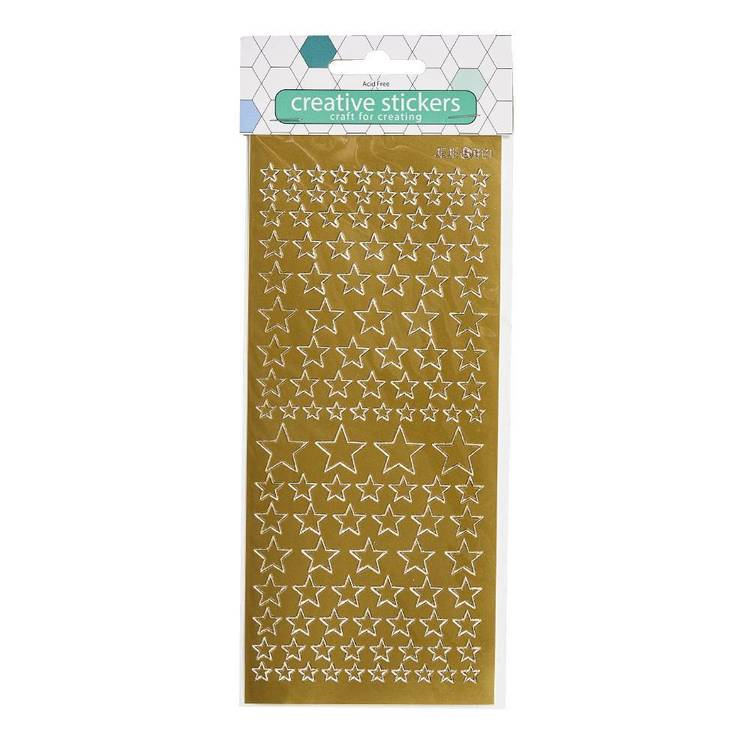 Arbee Stars Gold Or Silver Stickers Sheet
