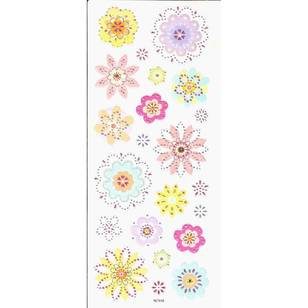 Arbee Flowers Colourful Stickers Sheet