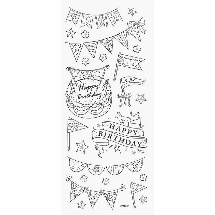 Arbee Birthday With Flags Sticker