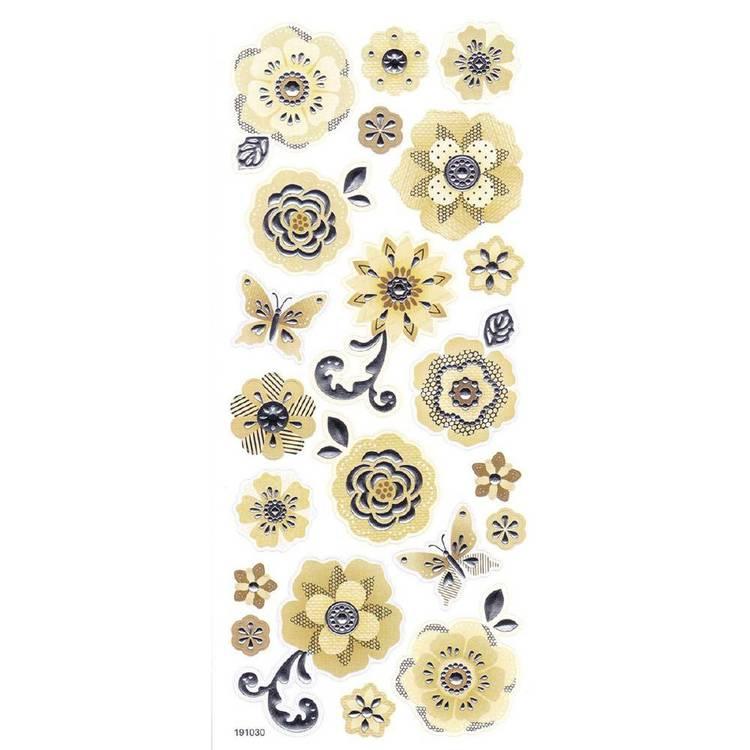 Arbee Foil Flowers Sticker