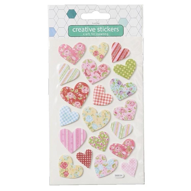 Arbee Heart Glitter Foam Sticker