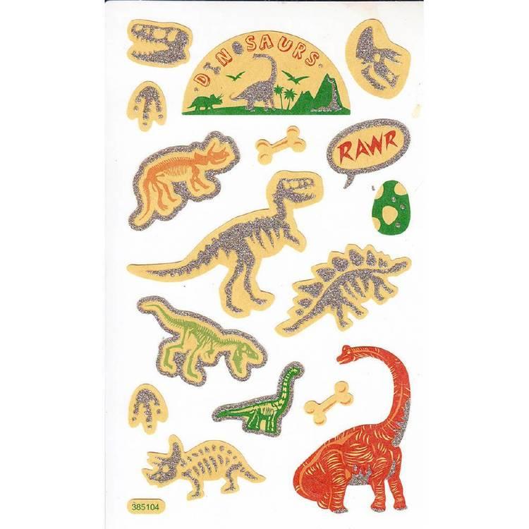 Arbee Dinosaurs Glitter Sticker