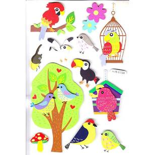 Arbee Birds Cute Stickers Sheet