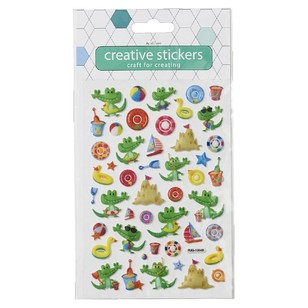 Arbee Puffy Stickers Croc Glitter Sticker