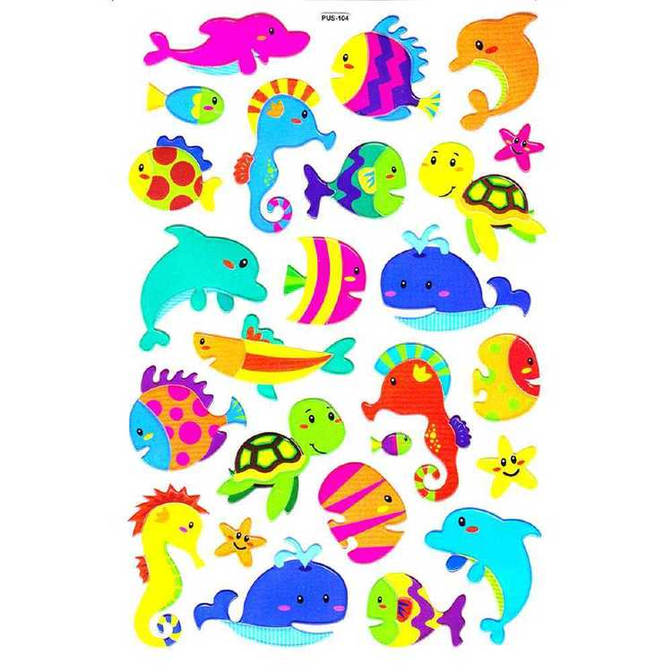 Arbee Fancy Stickers Marine Sticker Multicoloured