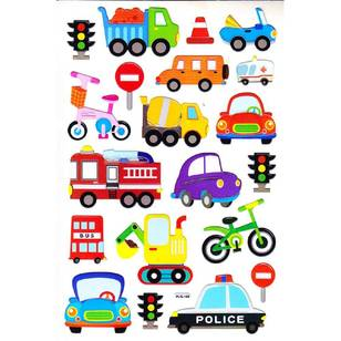 Arbee Fancy Stickers Vehicles Sticker