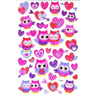 Arbee Fancy Stickers Owls Sticker
