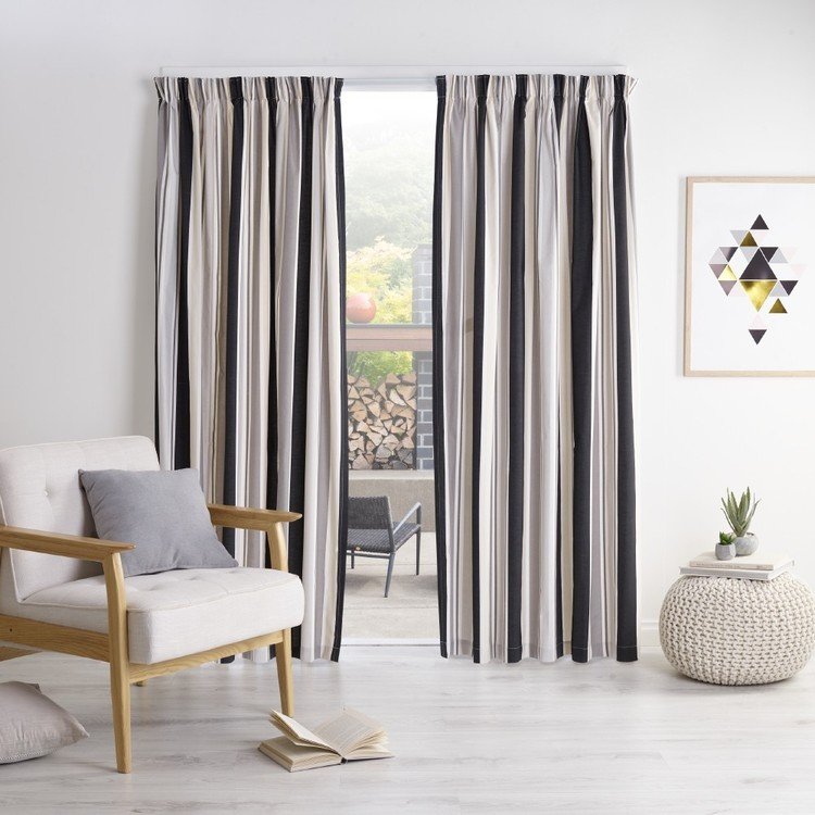 Alex Stripe Thermal Curtain Fabrics