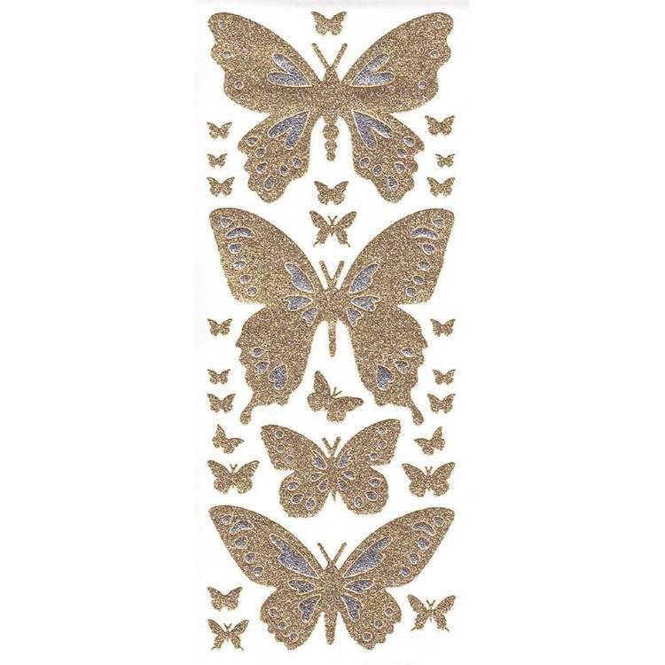 Arbee Butterfly Glitter Mix Sticker