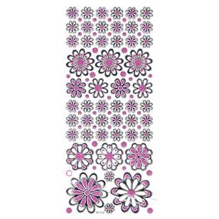 Arbee Flowers Mix Glitter Sticker
