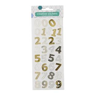Arbee Numbers Patterned Stickers Sheet