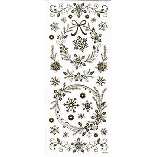 Arbee Floral Snowflakes Stickers Sheet