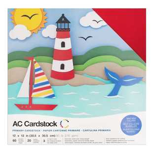American Crafts Primaries Cardstock