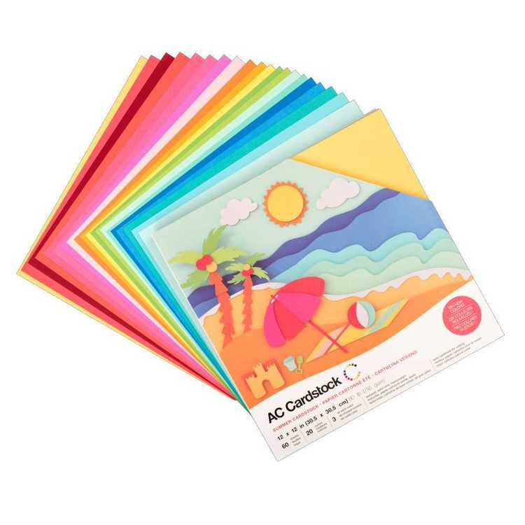 American Crafts Summer Cardstock