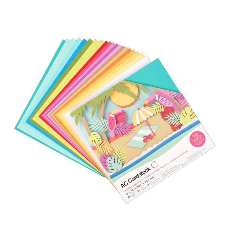 American Crafts Tropical Cardstock