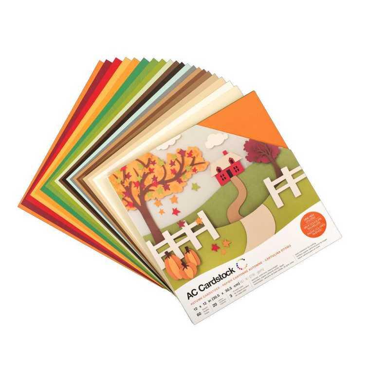 American Crafts Autumn Cardstock