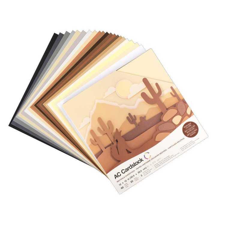 American Crafts Neutrals Cardstock