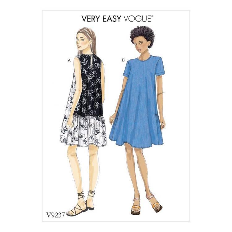 Vogue Pattern V9237 A-Line, Back Ruffle Dresses