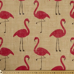 Flamingo Printed Hessian