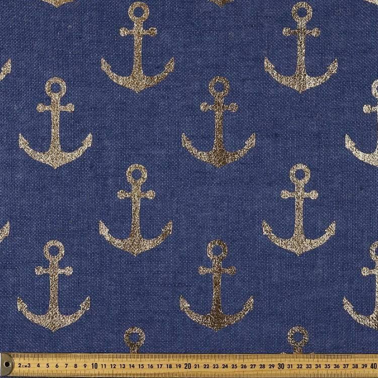 Anchor Printed Hessian