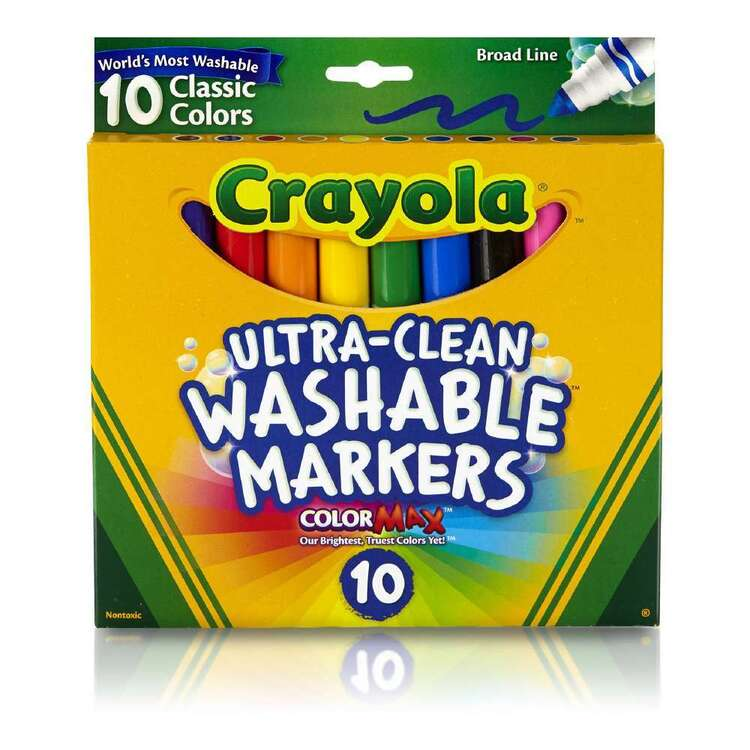 Crayola Ultra Clean 10 Washable Broad Line Markers Set