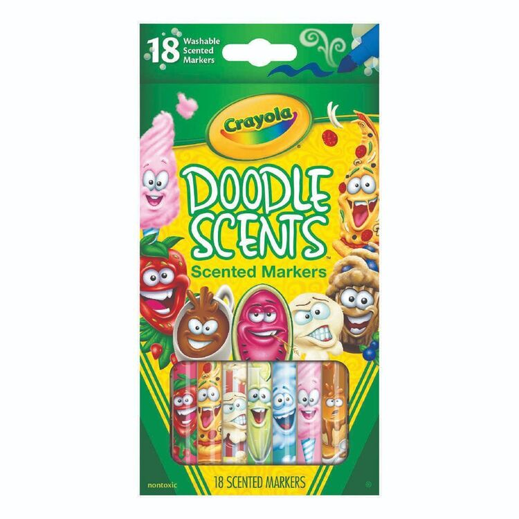 Crayola Doodle Scents Scented Markers 18 Pack