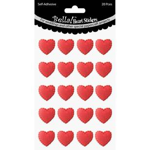 Bella! Bling Heart Stickers