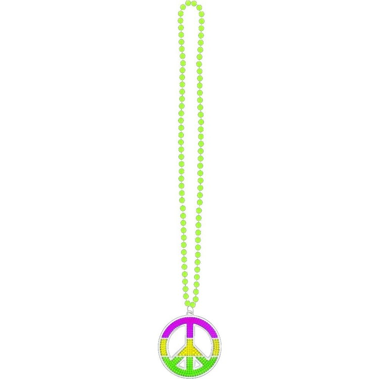 Amscan Mix N Match Peace Sign Necklace