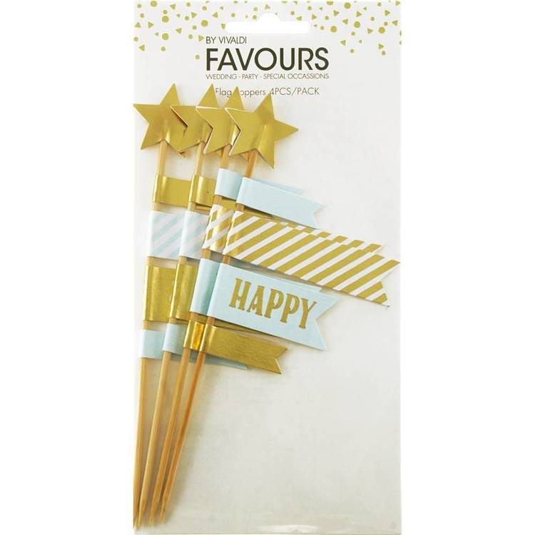 Vivaldi Favours Foil Topper Flag