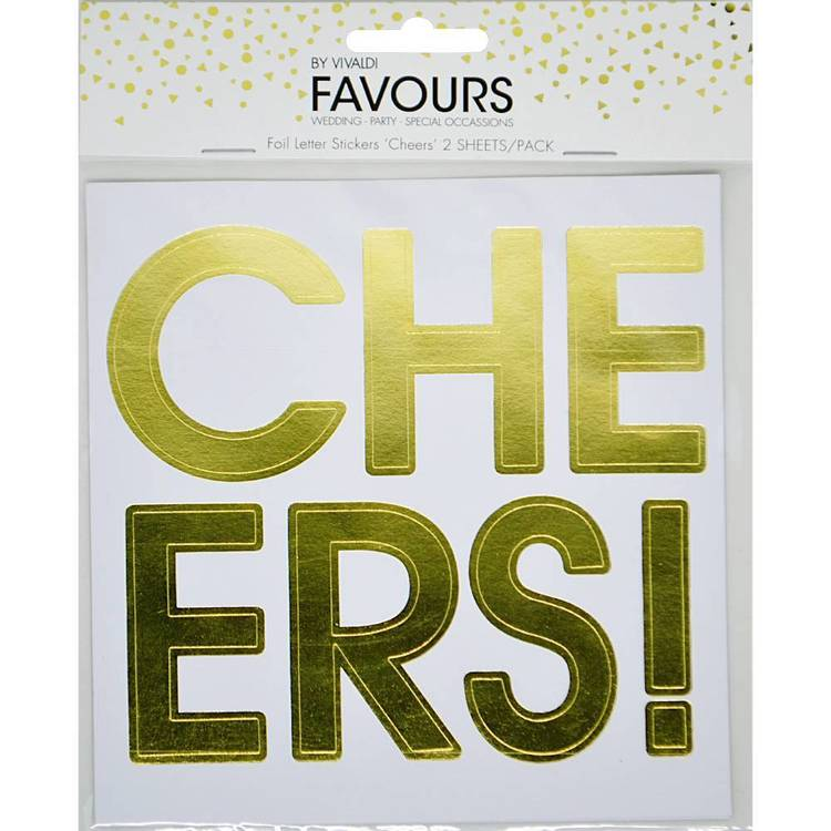 Vivaldi Favours Cheers Letter Sticker