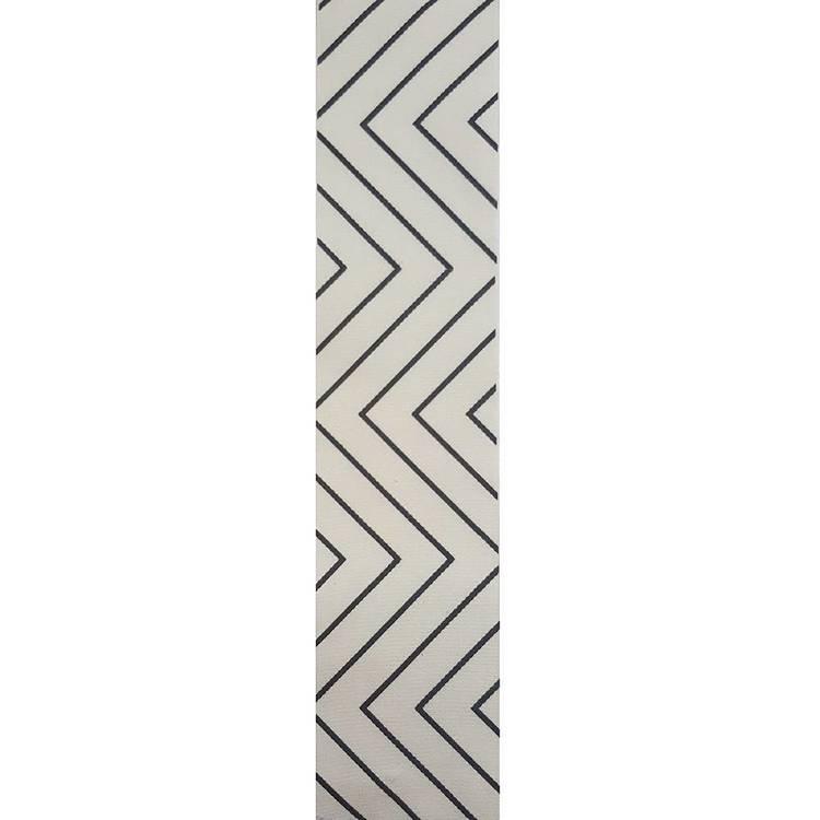 Vivaldi Favours 50 mm Natural & Black Zigzag Canvas Ribbon