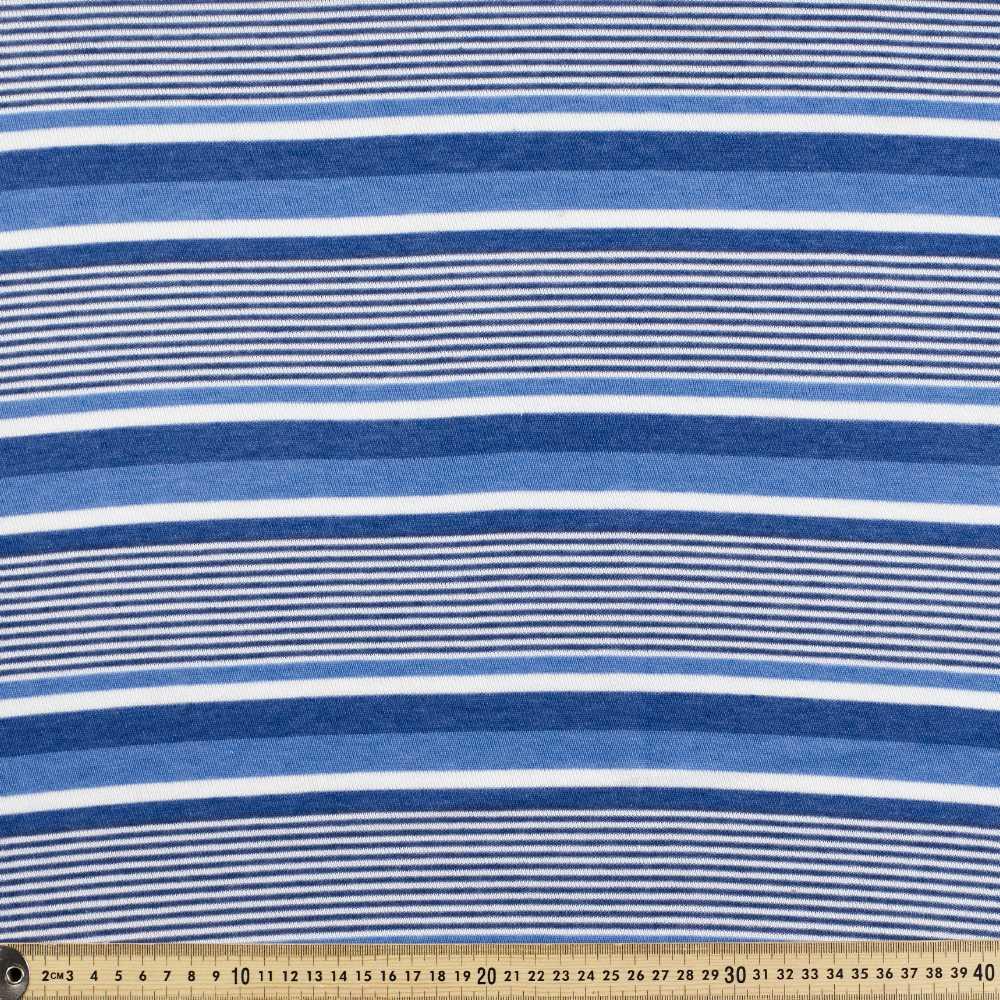 Stripe 2 Mesh Cotton Knit