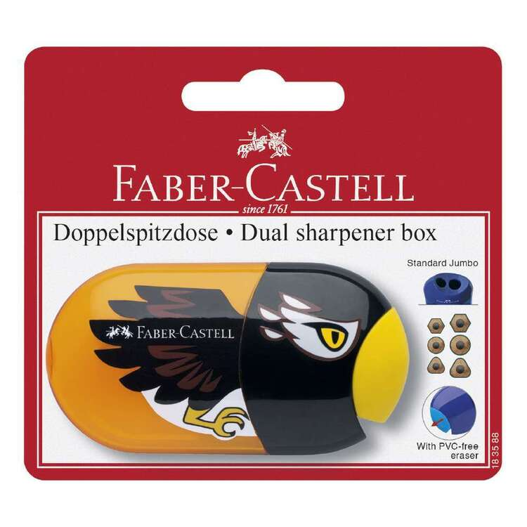 Faber-Castell Two Hole Sharpener With Eraser