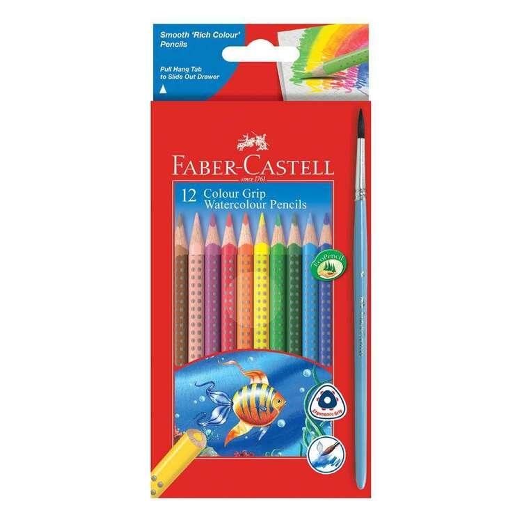 Faber Castell 12 Colour Grip Watercolour Pencils