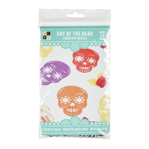 Die Cuts With A View Day Of The Dead Lasercut Skulls Paper Kit