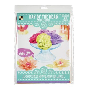 Die Cuts With A View Day Of The Dead Flowers Paper Kit
